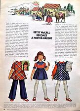 Betsy McCall Mag. Paper Doll, Betsy McCall Becomes a Foster Parent, Oct. 1973
