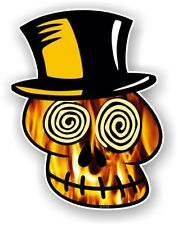 VOODOO SKULL Design With Realistic Flames Motif car vinyl sticker decal 110x85mm