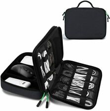 Cable Organiser Bag Wire Tidy Bag Double Layer for Electronic Accessories Travel