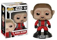 Star Wars The Force Awakens Nien Nunb Funko Pop Vinyl Action Figure Brand New