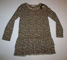 Siguiente NUEVO GB Marrón Negro Estampado Animal Leopardo Fruncido Dobladillo