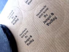 Personalised Thank You Stickers,Wedding Kraft Labels,Envelopes, Seals, Favours