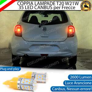 COPPIA LAMPADE FRECCE LED POSTERIORI NISSAN MICRA IV dal 06/2013 + WY21W CANBUS