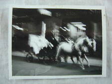 Unusual Vintage Photo Blurry Horse Drawn Ghost Carriage 827