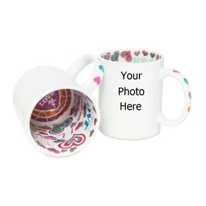 Personalised Photo Mug With Message I Love You Inside