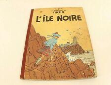 BD Album Tintin L'île Noire  B11 1954  Hergé Casterman