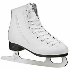 Lake Placid Cascade Girl's Figure Ice Skate - White (Youth 13)