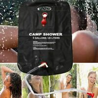Shower Bag Foldable Solar Energy Heated Camp PVC Water Bag Outdoor Camping S1T6