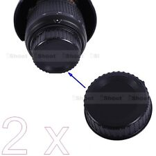 2x New Rear Lens Cap Cover Protector - Installation Point for Nikon F Mount Lens