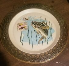 2 Vintage Falstaff Beer Decorative Wall Plates - Fish and Logo