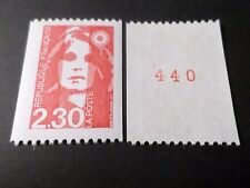 FRANCE 1990, timbre 2628a, N° ROUGE, MARIANNE ROULETTE, neuf**, VF MNH STAMP