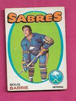 1971-72 OPC # 22 SABRES DOUG BARRIE  ROOKIE VG  CARD (INV# A8214)