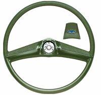 OER Green Steering Wheel With Bow Tie Horn Cap 1969-1972 Chevrolet Pickup Truck