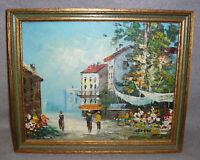 Tropical Village Oil Painting Impressionist Caribbean Landscape Cityscape Gerber