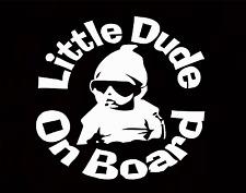 Little dude on board bébé enfant fenêtre pare-chocs voiture signe fenêtre autocollant