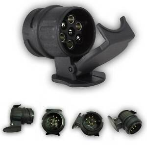 13 to 7 Pin Trailer Truck Electric Towing Converter Bar Plug Adaptor