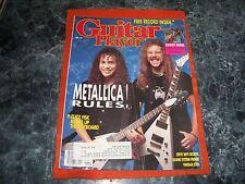 metallica rules GUITAR MAGAZINE april1989 COVER EXC.free eliot fisk record insid