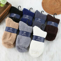 Mens Women Thicken Thermal Wool Cashmere Casual Sports Floor Warm Socks IO