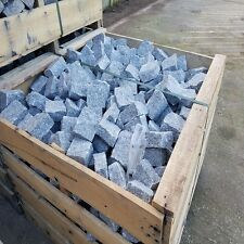 Silver Granite Cobbles setts edging paving 100x100 2 day delivery - Sales Now On