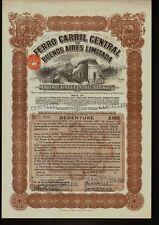 ARGENTINA Ferro Carril Central Buenos Aires Ltd /  Railway dd 1931