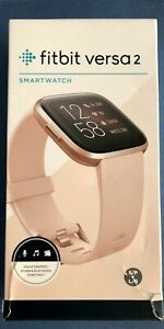 Fitbit Versa 2 Health and Fitness Smartwatch Pebble Only- Petal Copper Rose