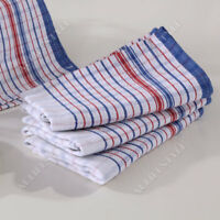 10x Commercial Grade Vintage Tea Towels HEAVY DUTY 100% COTTON Linen Momi Check