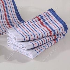 10x Commercial Grade Vintage Tea Towels HEAVY DUTY 100% COTTON Linen Momi Check