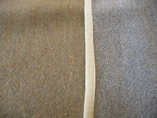Vintage WOOL MATERIAL  Green Herringbone CRAFTS  44 X 38""