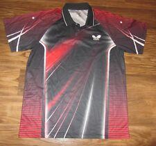 Butterfly Table Tennis Mens Polo Short-Sleeve Shirt, Japan, Black Size 2XL, EUC