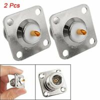 New 2pcs Practical N Female Jack Panel Mount Chassis PCB Connector Adapter SS