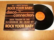 "DISCO CONNECTION : ROCK YOUR BABY - 12"" vinyl BELGIUM 1982 - MUSIC MASTER"