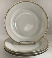 "H&Co. Selb Bavaria Bread Or Salad Plates With Gilt Rim Set Of 4 - 7 1/2"" Round"
