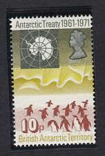 Brit Antartic Territory - 1971 Antartic Treaty 10p Penguin SG41 Sc42 - MNH (C3J)