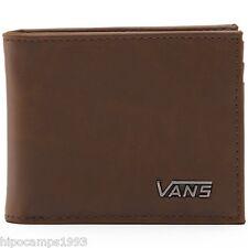 Cartera piel de imitación Vans Suffolk Wallet Brown portafoglio portemonnaie