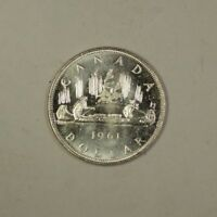 1961 Canada Silver Dollar Coin $1 BU Brilliant Uncirculated 80% Silver