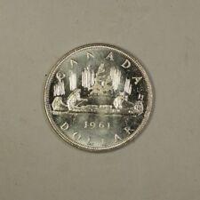 1961 Canada Silver Dollar Coin $1 BU Brilliant Uncirculated 80% Silver