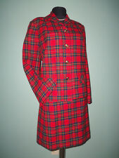Vtg Pendleton Plaid Wool BAT WING Collar 49er JACKET Pencil SKIRT SUIT Bust 42