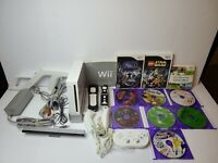 Nintendo Wii RVL-001 Console Bundle with 10 games. Plays Wii and gamecube games