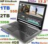 """# Workstation 17.3"""" HP 8760w i7-Quad Blu-Ray Burner 1TB SSD 2TB 32GB K3100M-4GB"""