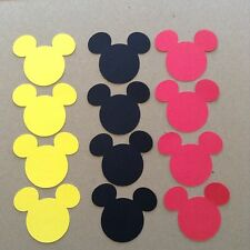 Here Is 36 Mickey Mouse Heads. Birthday,party Favors,banner scrapbook confetti