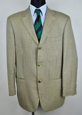 HUGO BOSS Tweed Silk & Wool Blazer UK 40 Beige Check Coat Jacket Suit EUR 50 Gr.