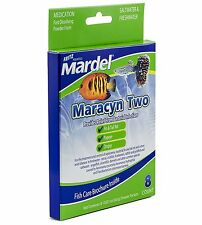 FRITZ MARDEL MARACYN TWO POWDER PACKET 8 CT FRESH OR SALT FREE SHIP TO THE USA
