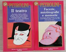 ~ PETROLINI ~FACEZIE, AUTOBIOGRAFIE E MEMORIE & IL TEATRO ~ANNO 1993