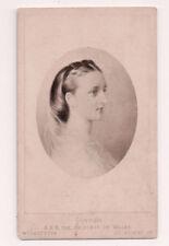 Vintage CDV Princess Alexandra of Denmark Queen of Great Britain