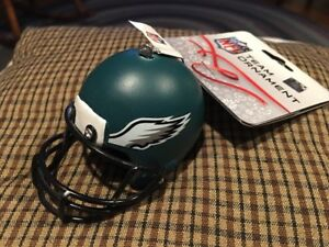 Philadelphia Eagles NFL Resin Helmet Christmas Ornament - NWT