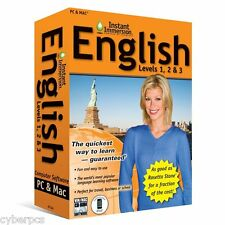 50 Learn How To Speak English With Instant Immersion Levels 1-3 Retail Box