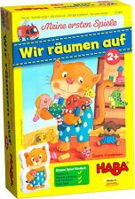 HABA Meine ersten Spiele Wir räumen auf Spiel Kinder ab 2 Jahre Holz Lernspiel
