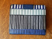 Vintage Fossil Women's Blue Leather Wallet