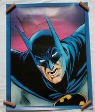 Vintage 1989 DC Comics Batman Superhero Poster