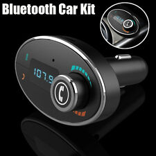Car MP3 Player LCD Bluetooth Car Kit FM Transmitter Modulator Dual USB Charger